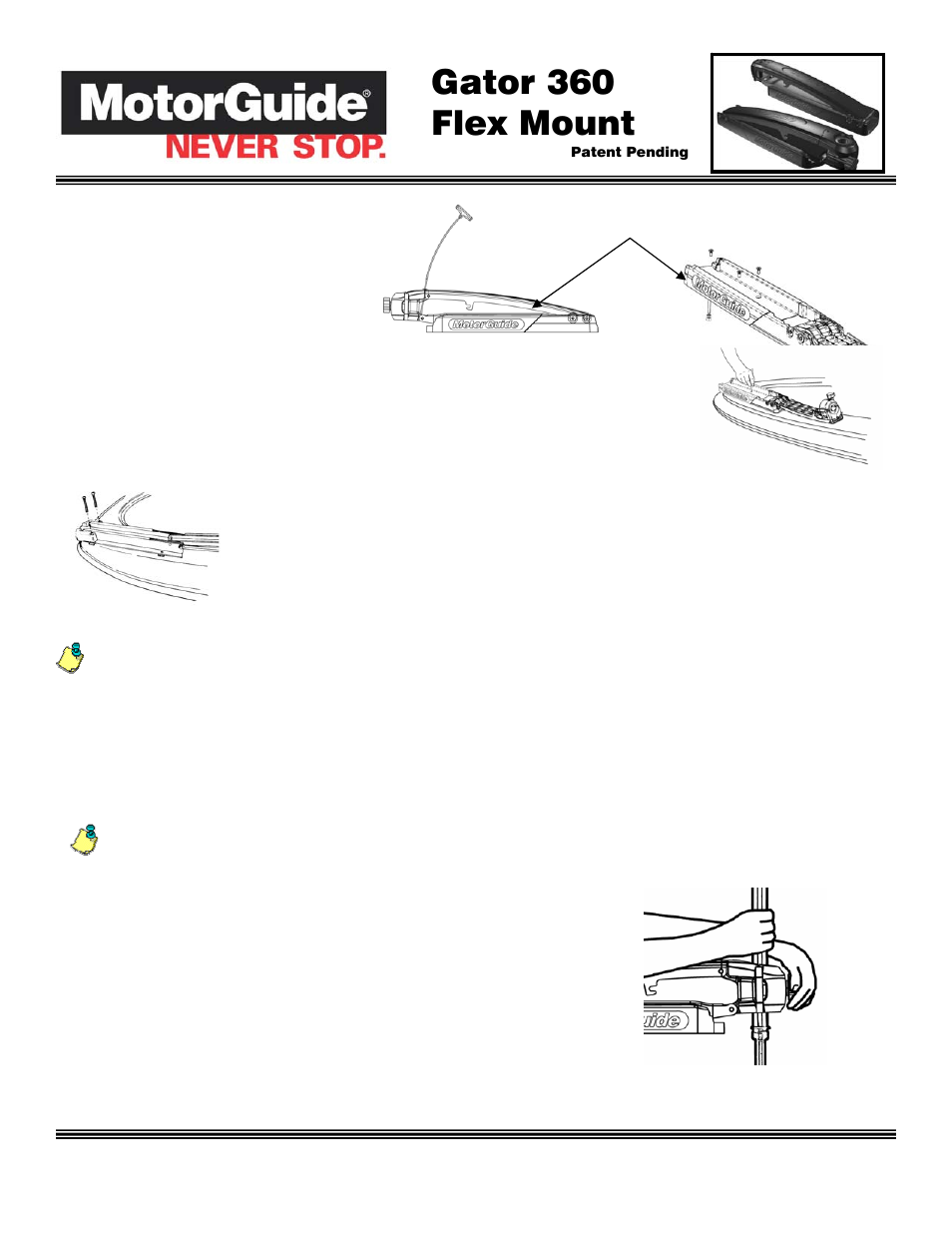 Motorguide Gator Mount 360 Schematic Parts Diagram Wire Mg 28 Wiring Flex User Manual 2 Pages Old