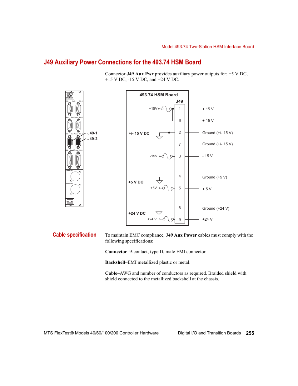cable specification mts flextest models 200 user manual page 255cable specification mts flextest models 200 user manual page 255 344