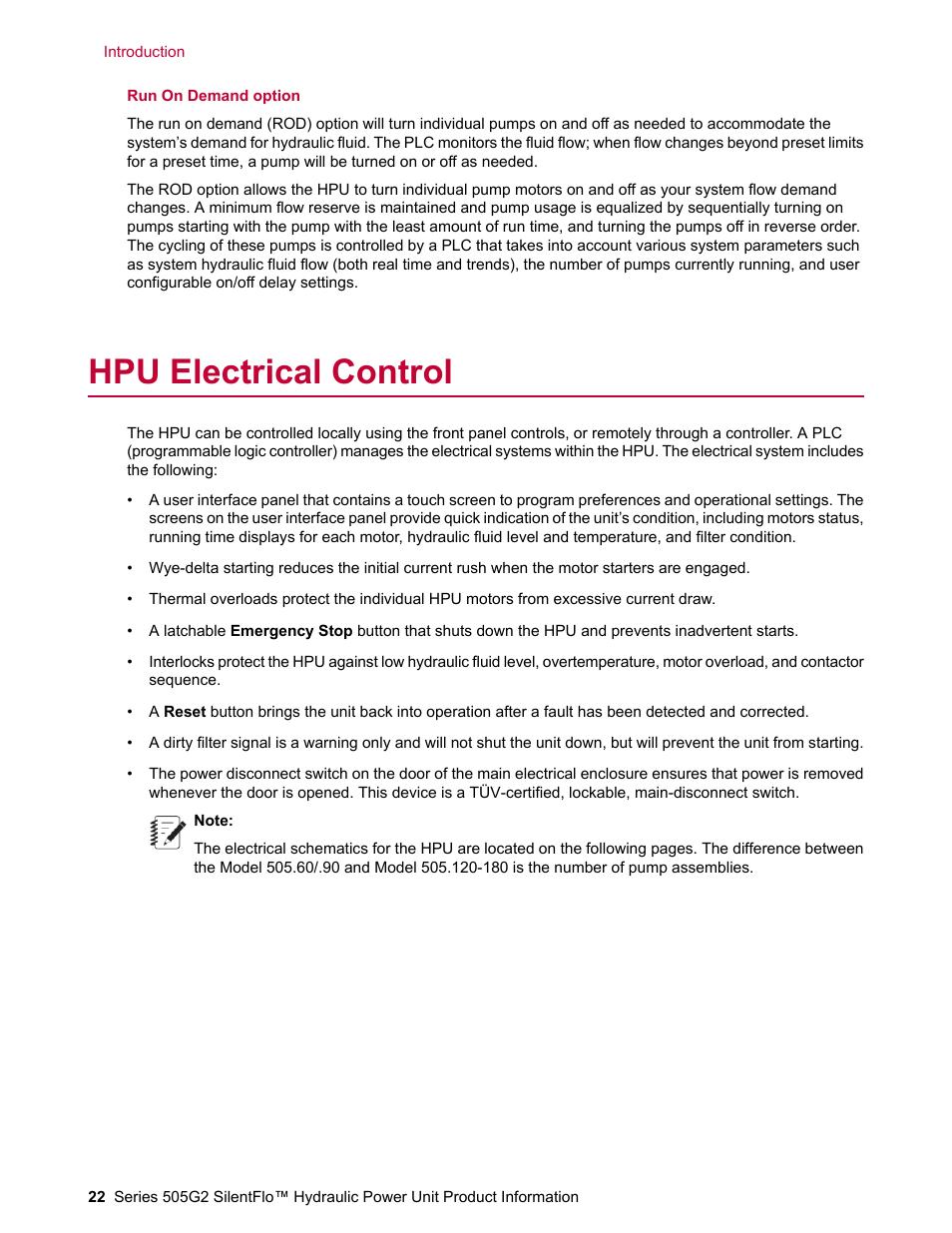 Hpu electrical control mts series 505g2 silentflo hydraulic power hpu electrical control mts series 505g2 silentflo hydraulic power unit model 505g2 180 user publicscrutiny Choice Image