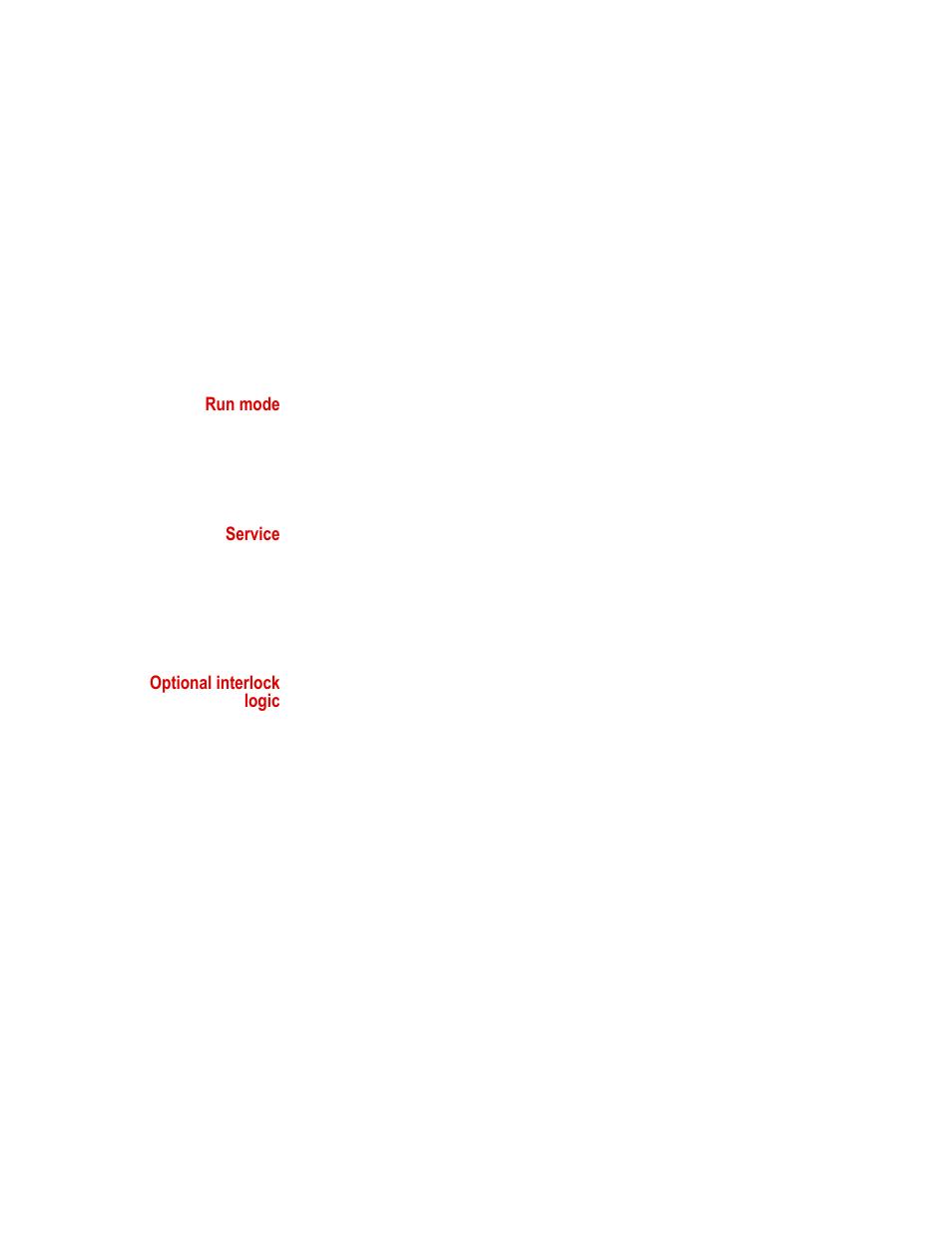 Run Mode Service Optional Interlock Logic Mts Series 311 Load Wiring Diagram 4 Doors Frame User Manual Page 84 86