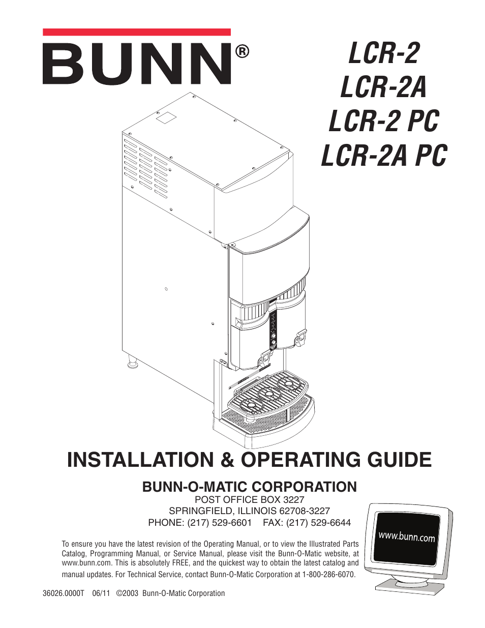 Bunn Model Bx Wiring Diagram Library Brew Phase Electric Brewing System Lcr 2 User Manual 36 Pages