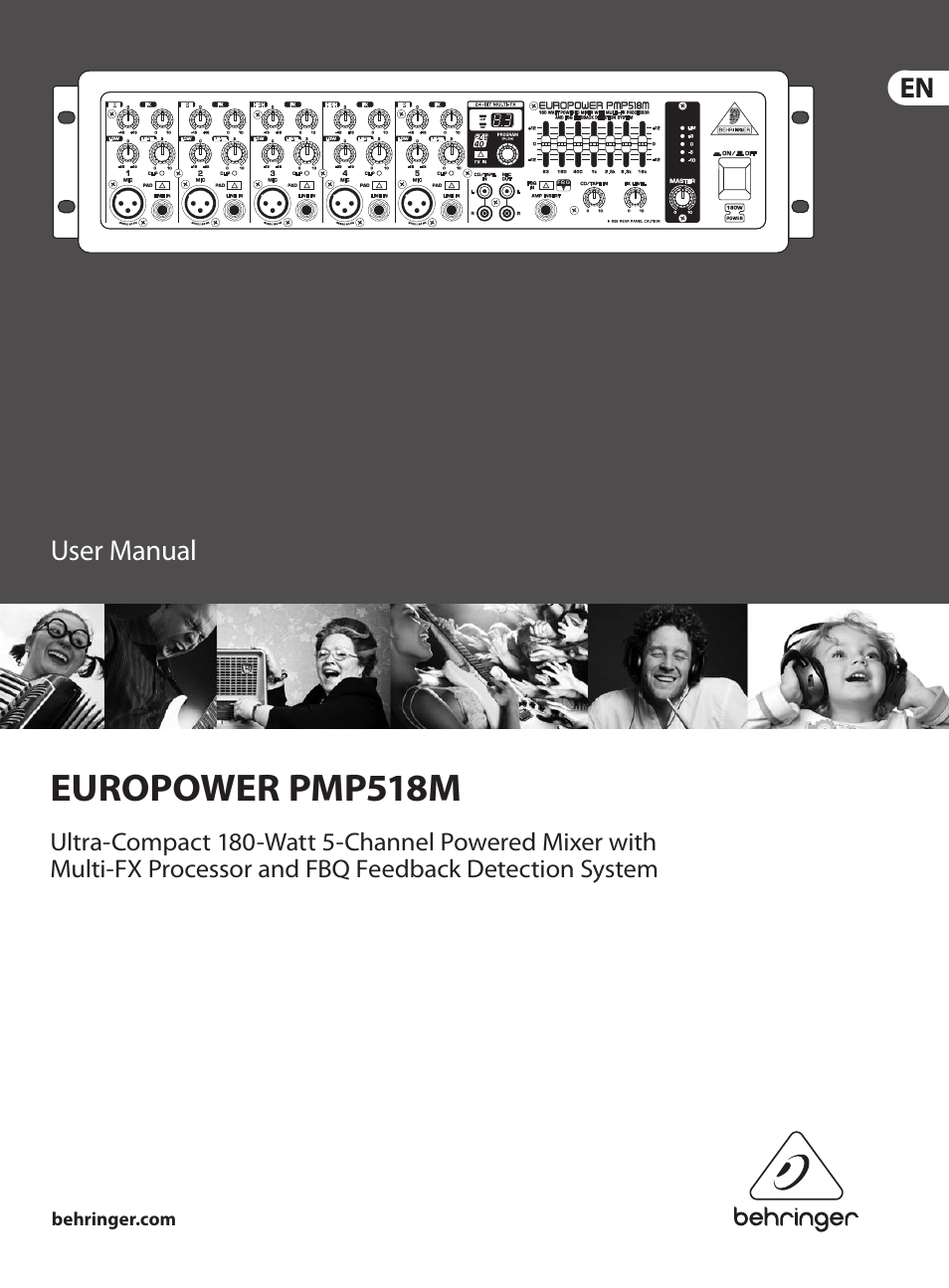behringer europower pmp518m user manual 12 pages rh manualsdir com Behringer Europower PMH3000 behringer europower pmp518m service manual