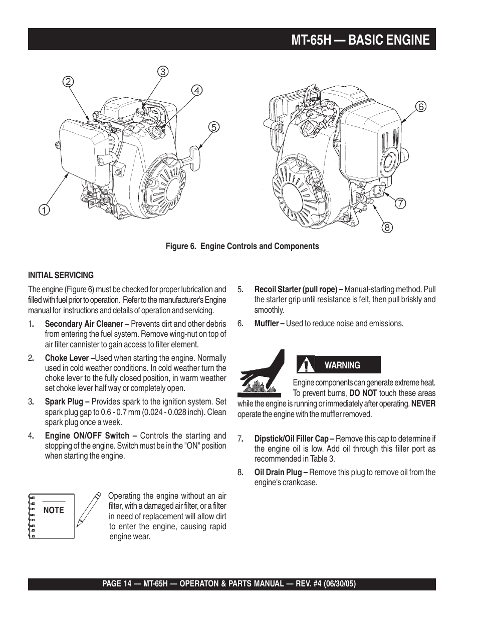 mt 65h basic engine multiquip mt65h user manual page 14 64