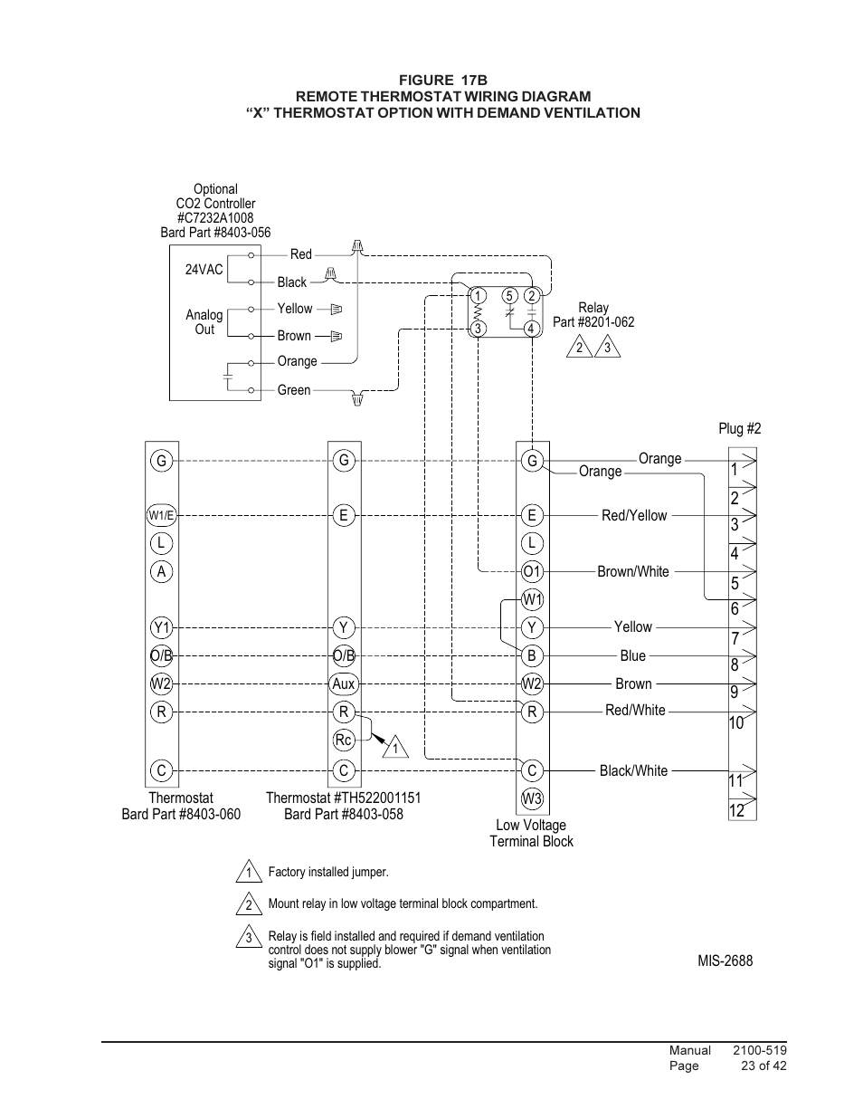 Bard Qtec Series Packaged Heat Pump Q30h1 User Manual Page 23 42 Wiring Diagrams Also For Q42h1