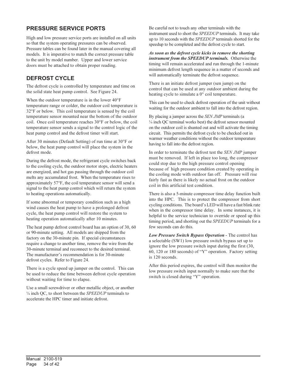 Bard QTEC SERIES PACKAGED HEAT PUMP Q30H1 User Manual | Page