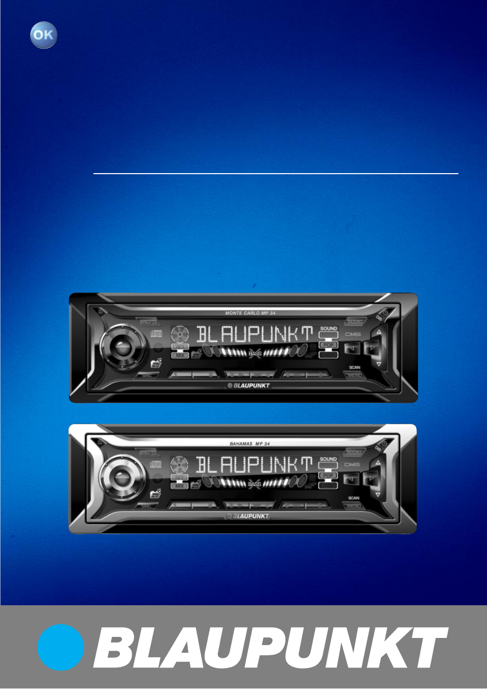 Blaupunkt Bahamas MP34 User Manual | 98 pages | Also for: Monte Carlo MP34