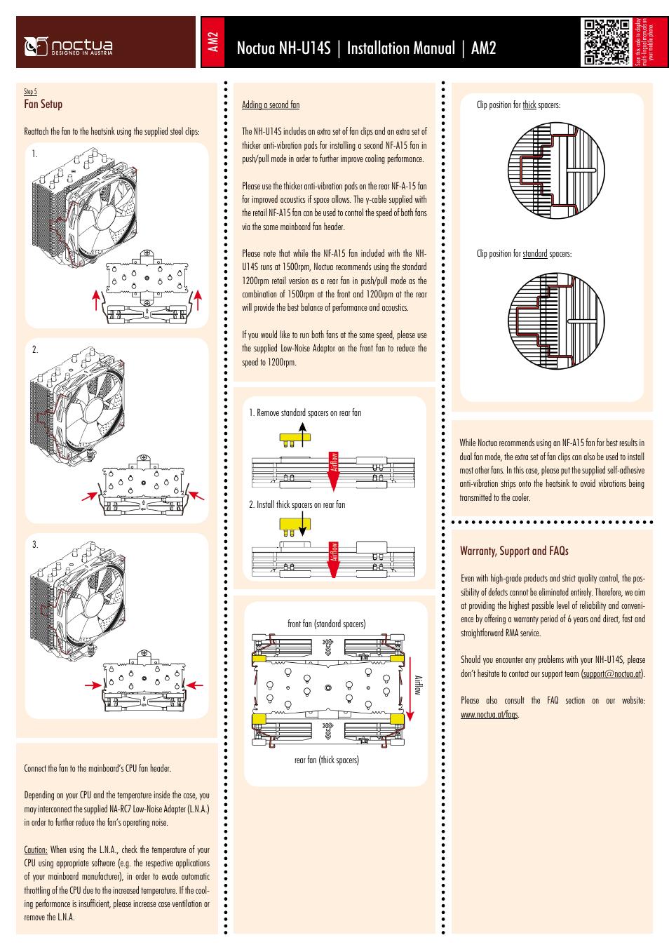 Noctua Nh U14s Installation Manual Am2 User Page 6