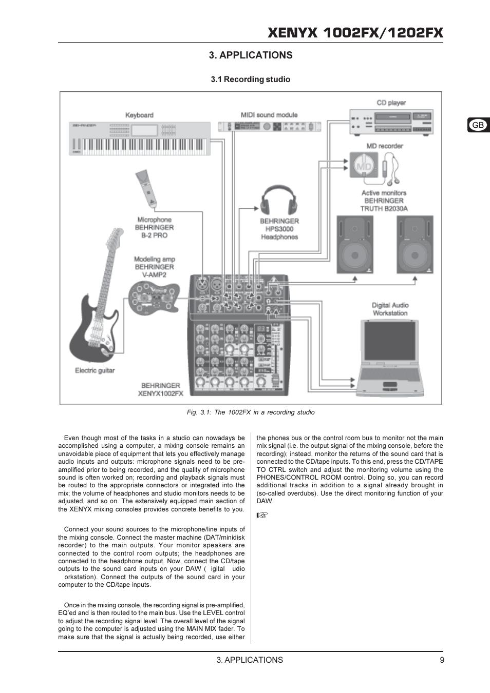 xenyx 1002fx инструкция на русском схема