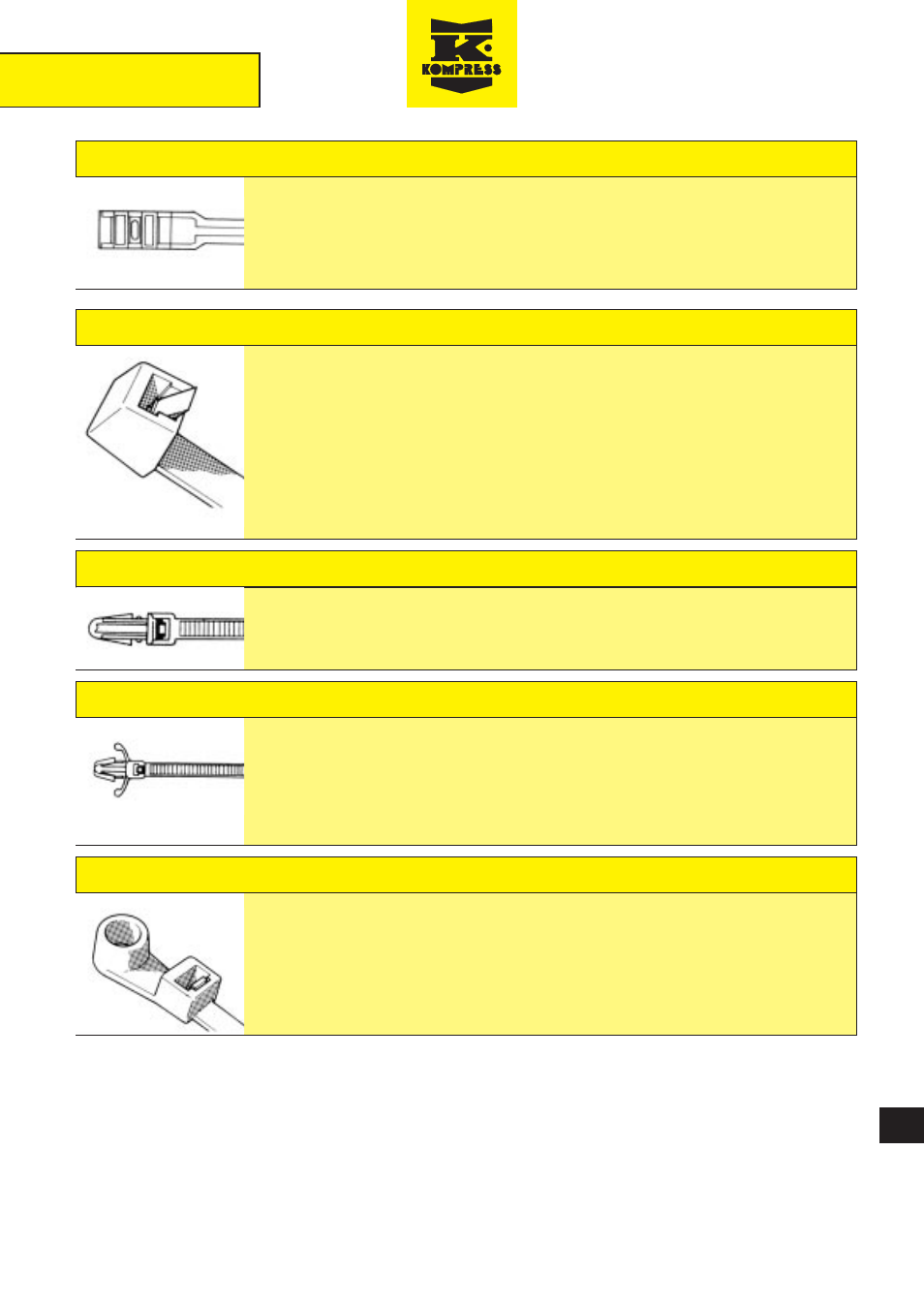 198a47e06a8b And fixings, Flat head nylon 11/12 ties, Releasable cable ties | Northern  Connectors Kompress Cable Ties & Fixings User Manual | Page 5 / 10
