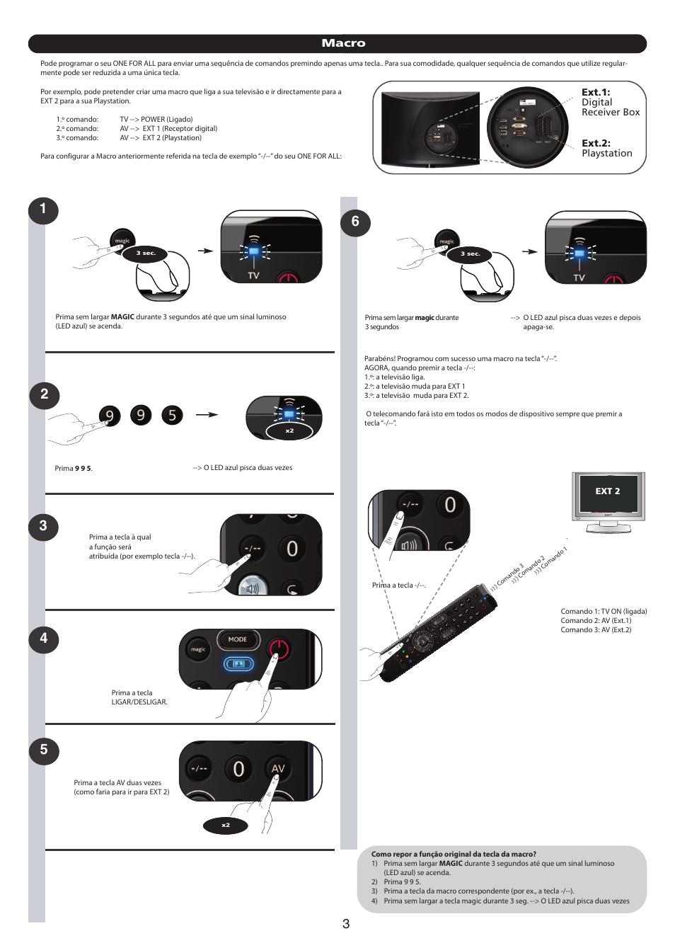 macro ext 1 digital receiver box ext 2 playstation one for all rh manualsdir com one for all urc 3440 user manual one for all urc-3410 user manual