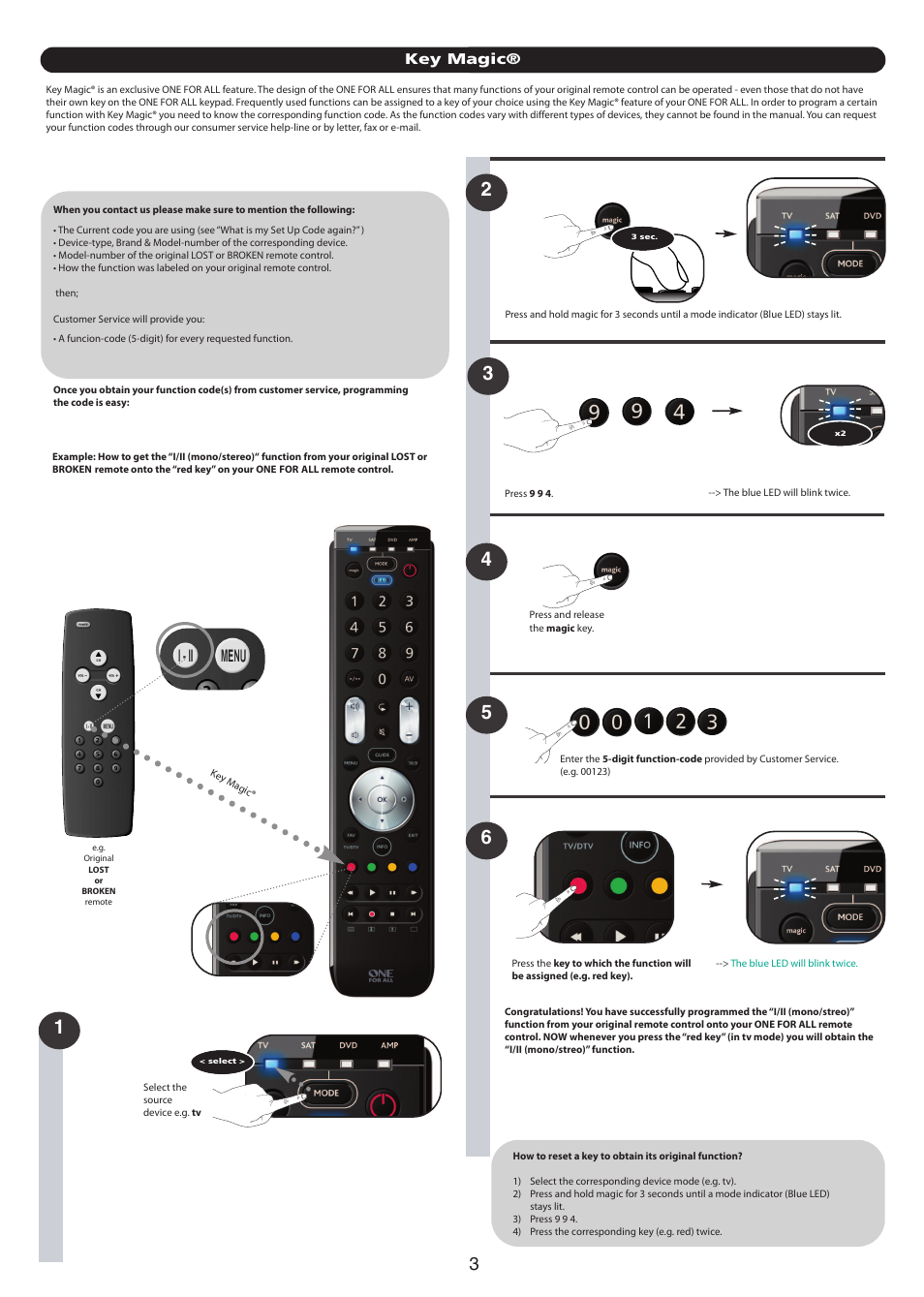 Key magic | One for All URC 7140 Essence 4 User Manual | Page 116 / 218