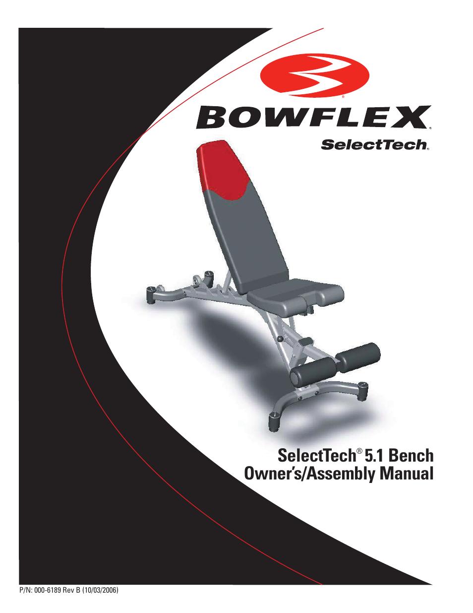 bowflex selecttech 5 1 bench user manual 20 pages rh manualsdir com Bowflex XTL Workout Guide Bowflex Conquest
