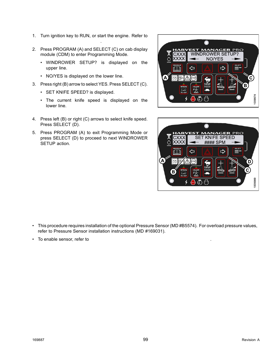 Setting the hydraulic overload pressure | MacDon M205 Operators