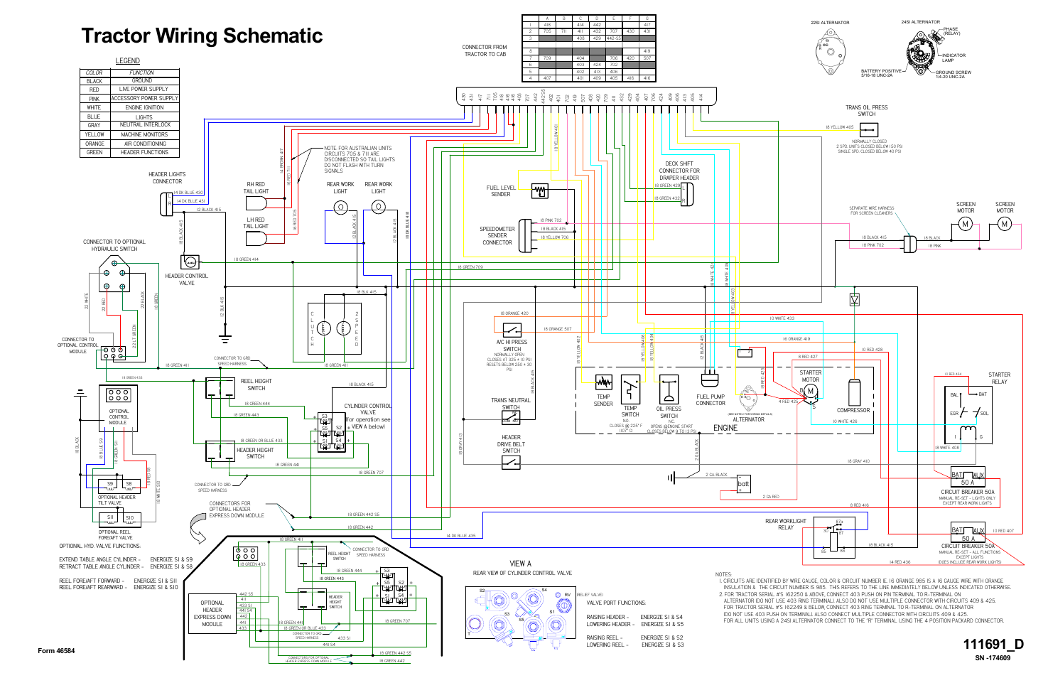 Tractor wiring schematic, Mengine, View a | MacDon 9250 SP ... on