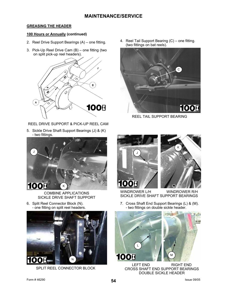 Maintenance/service | MacDon 742 HAY CONDITIONER User Manual