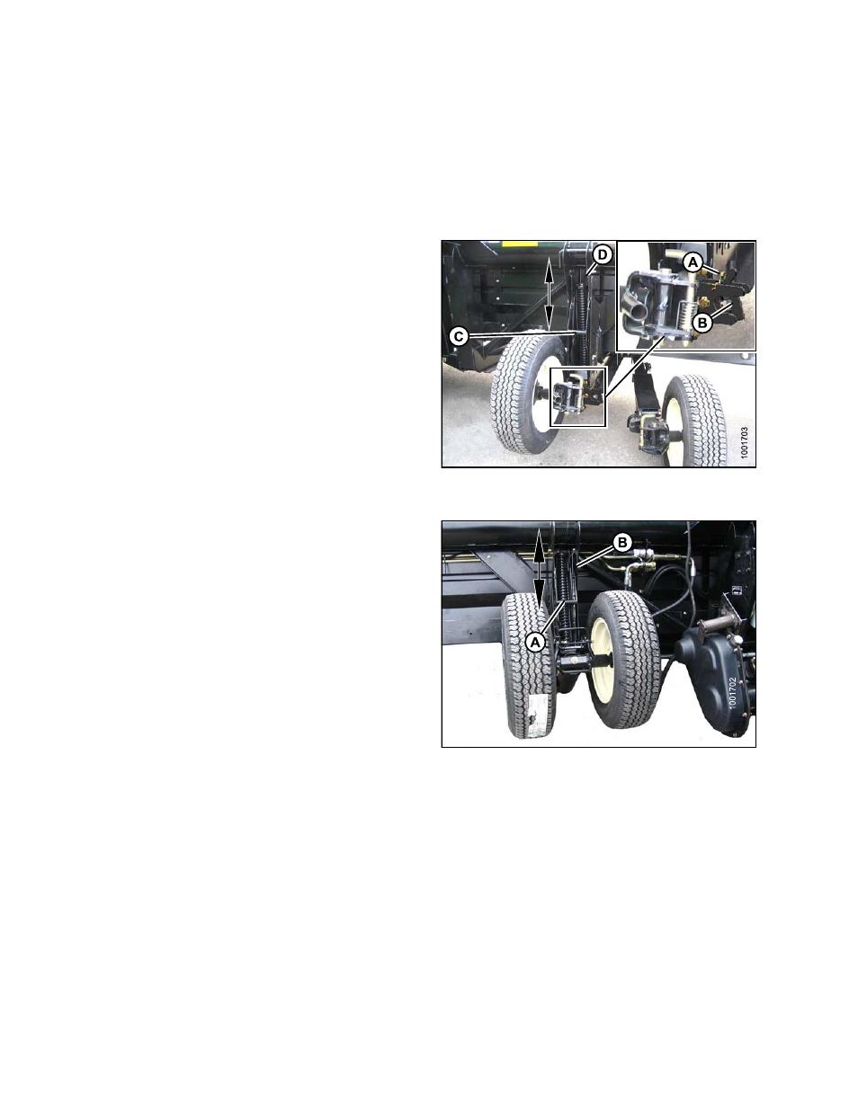 Adjusting stabilizer/slow speed transport wheels | MacDon