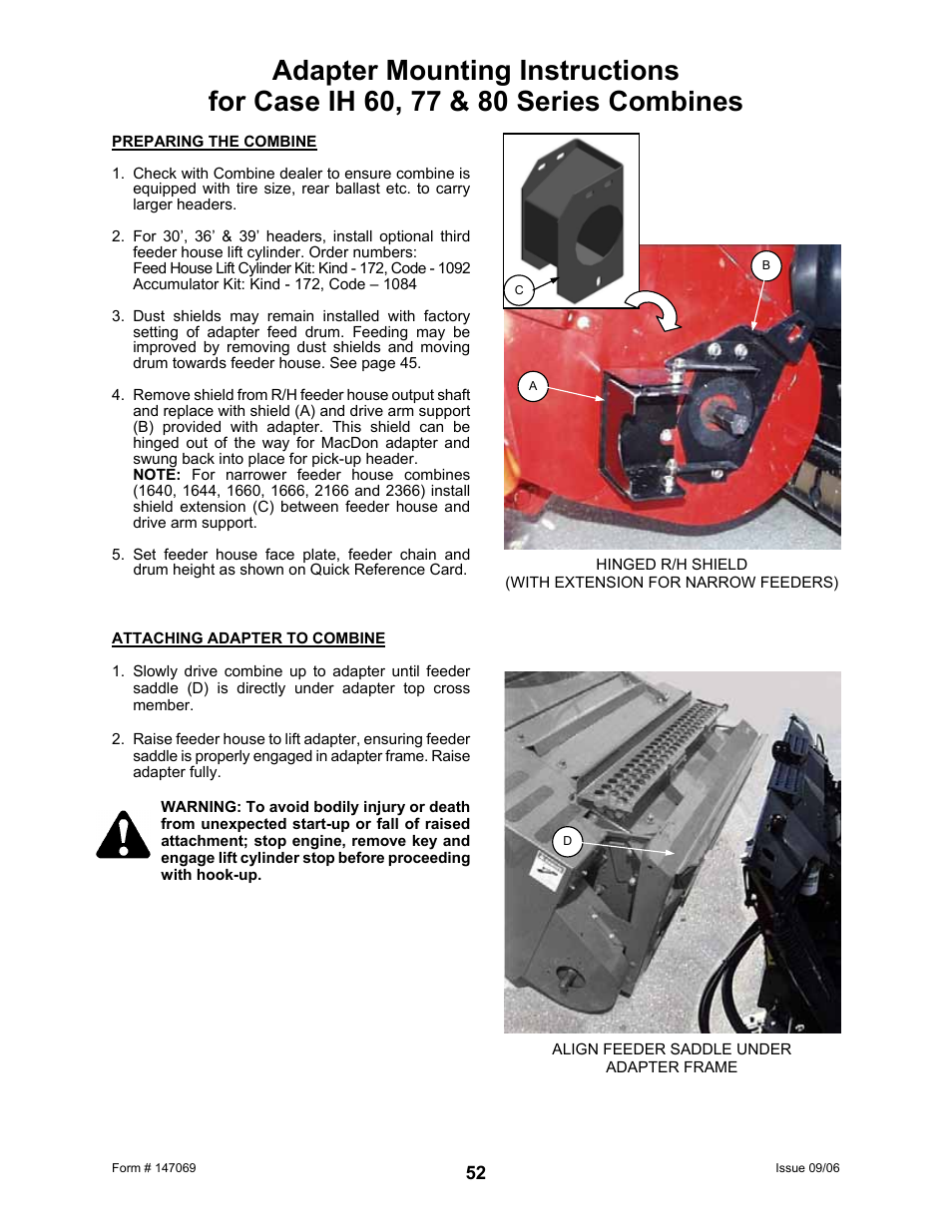 MacDon 873 Combine Adapter User Manual | Page 54 / 91