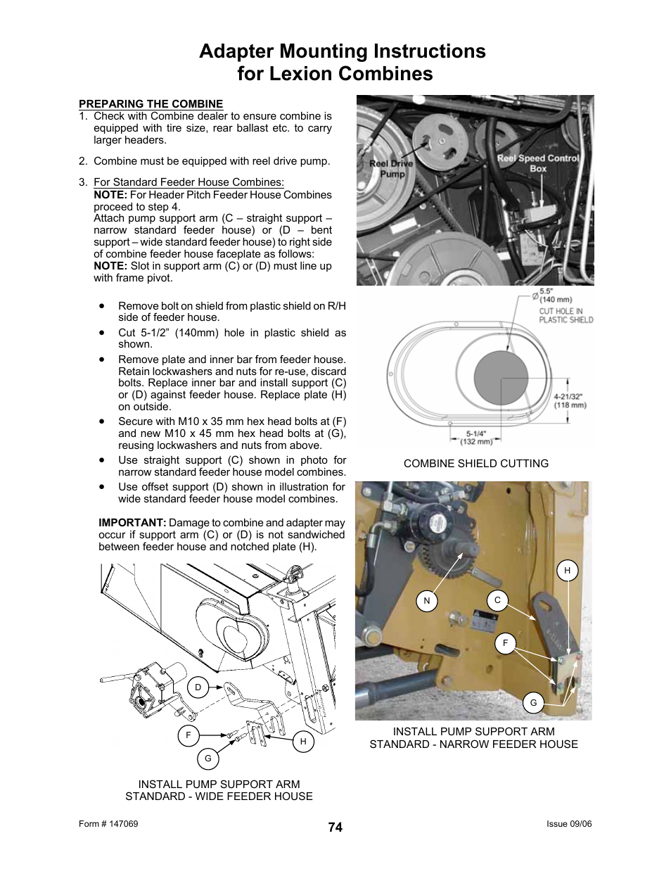 Adapter mounting instructions for lexion combines | MacDon