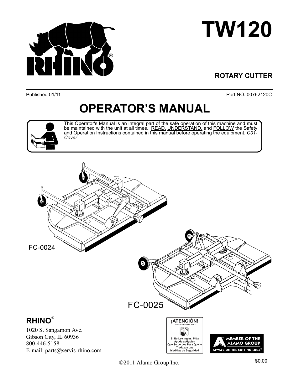 Blue Rhino TW120 FC-0024 User Manual | 194 pages | Also for