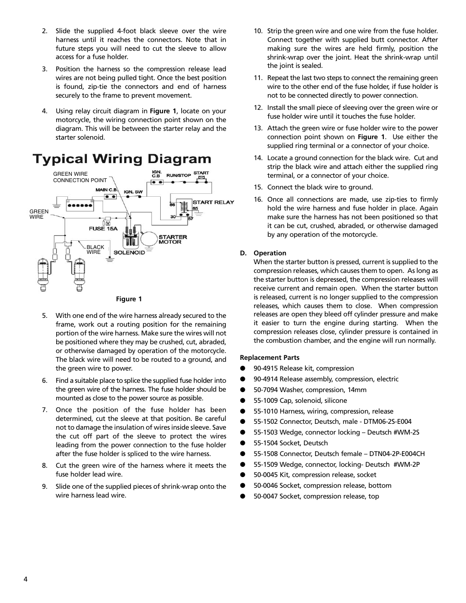 ss cycle electric compression release pn 90 4915 page4 s&s cycle electric compression release pn 90 4915 user manual s&s compression release wiring diagram at readyjetset.co