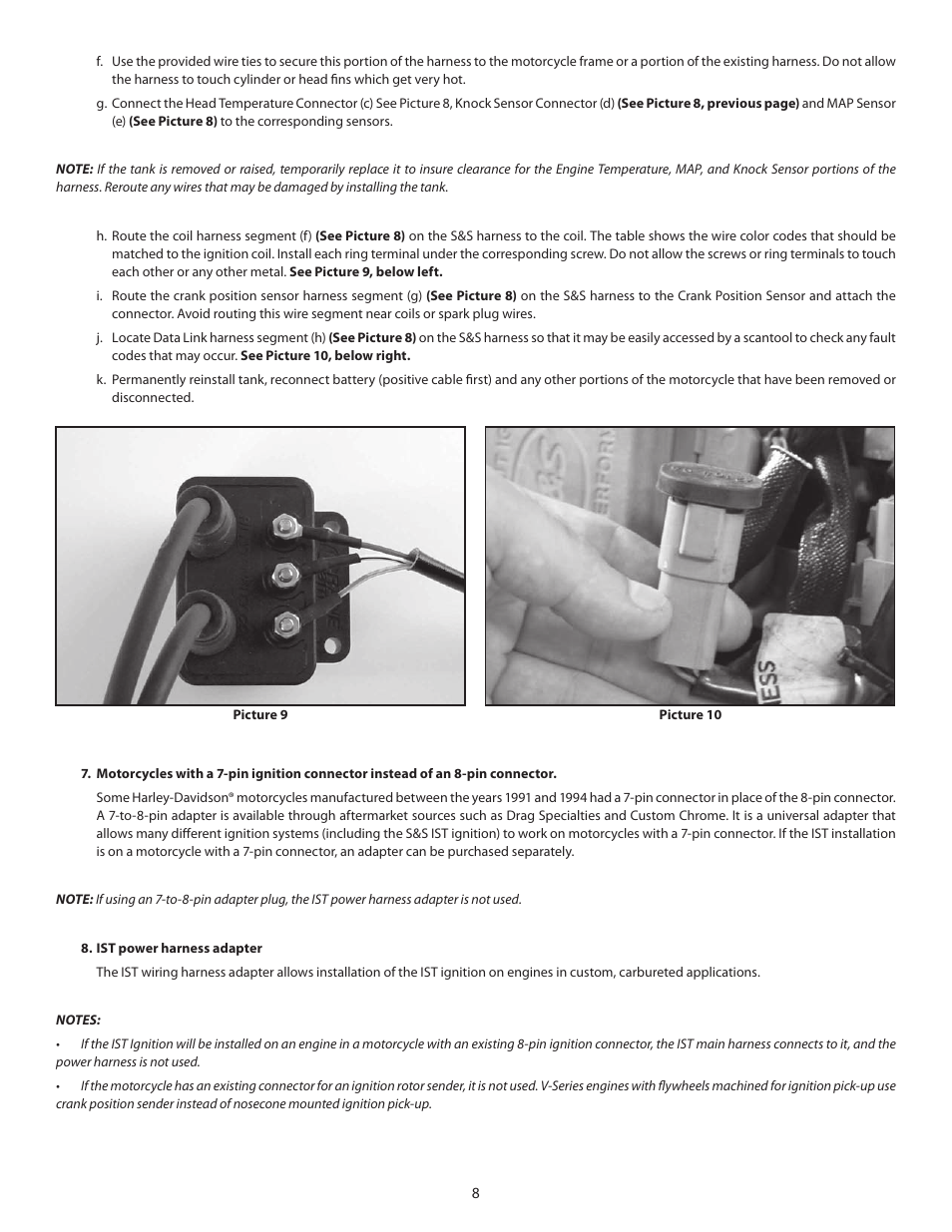 S&S Cycle IST Ignition System for S&S V-Series Engines with Flywheel  Machined for Crank Trigger User Manual | Page 8 / 14