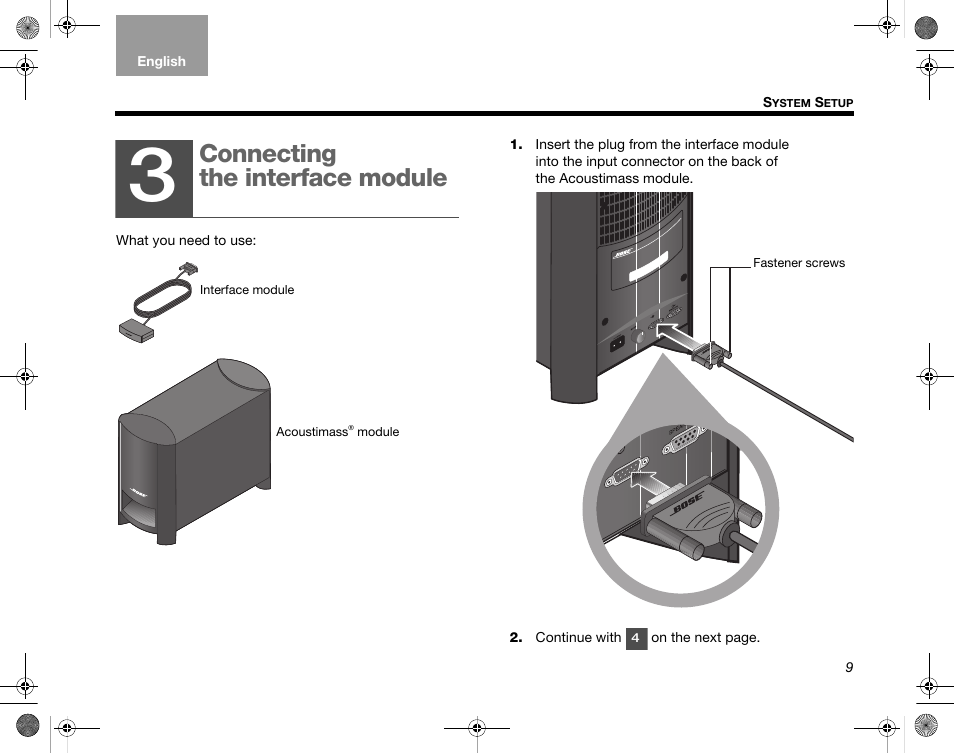 Connecting The Interface Module