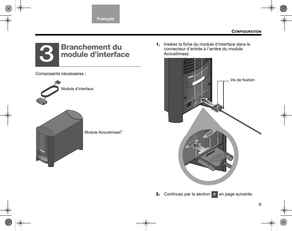 branchement du module d interface branchement du module d rh manualsdir com bose cinemate gs series 2 manual bose cinemate gs series ii specs
