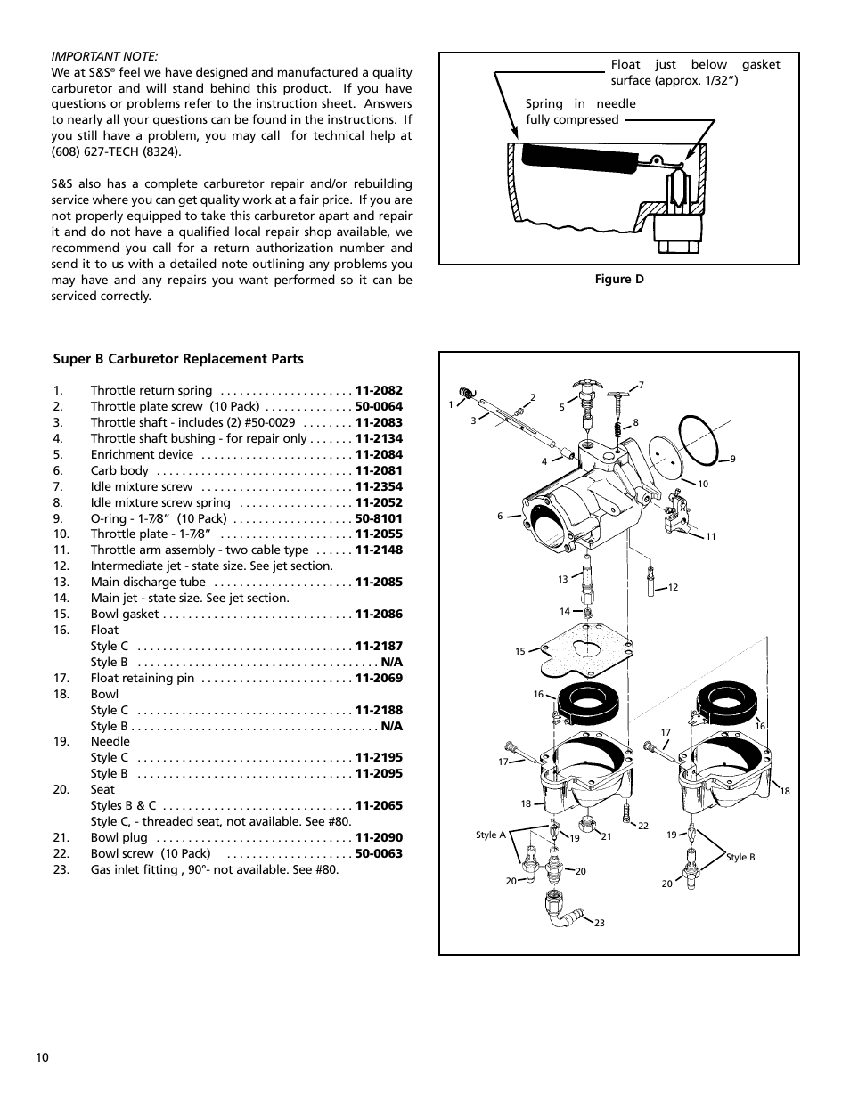 Ss Cycle Super B Series Carburetor Page
