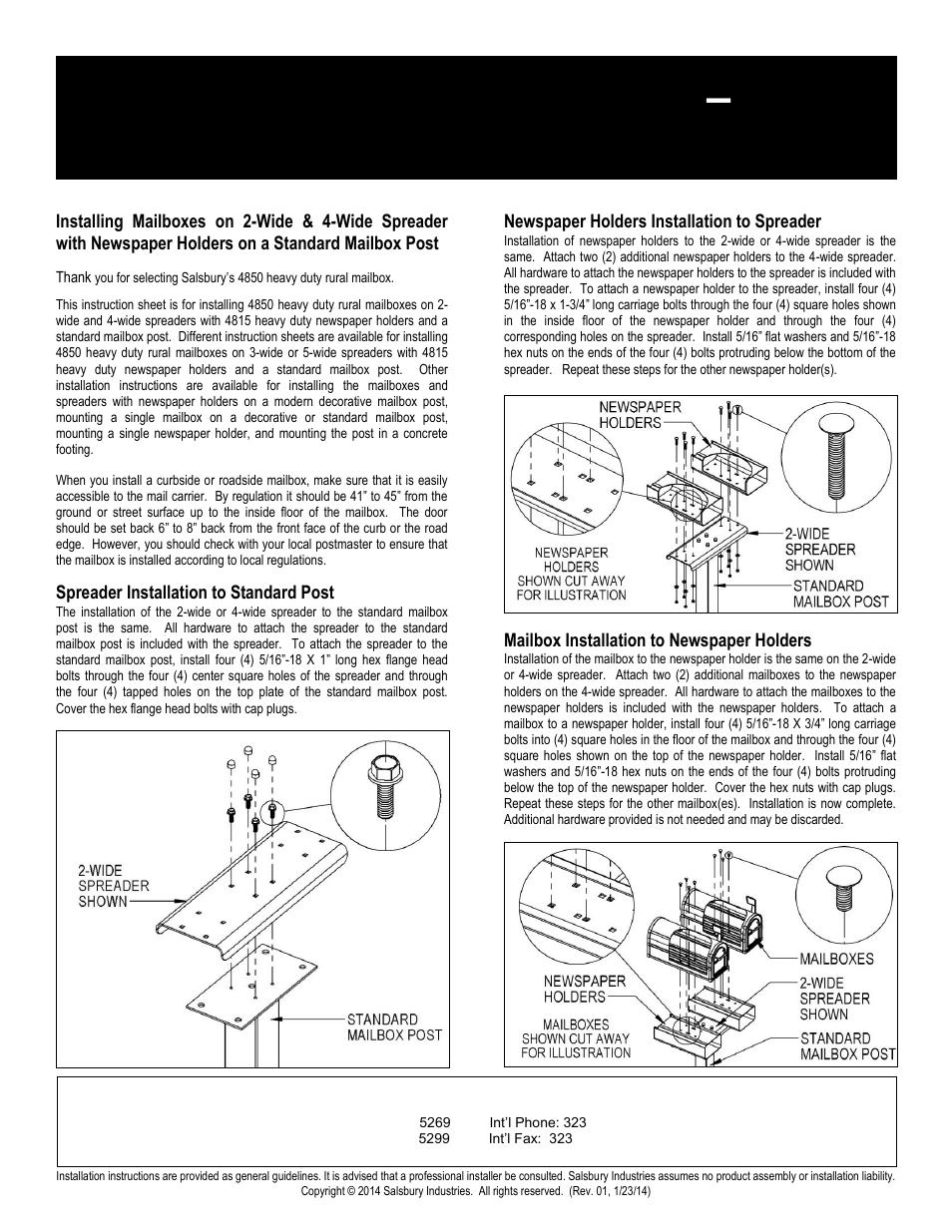 Heavy duty rural mailboxes – 4850 | Salsbury Industries 4850