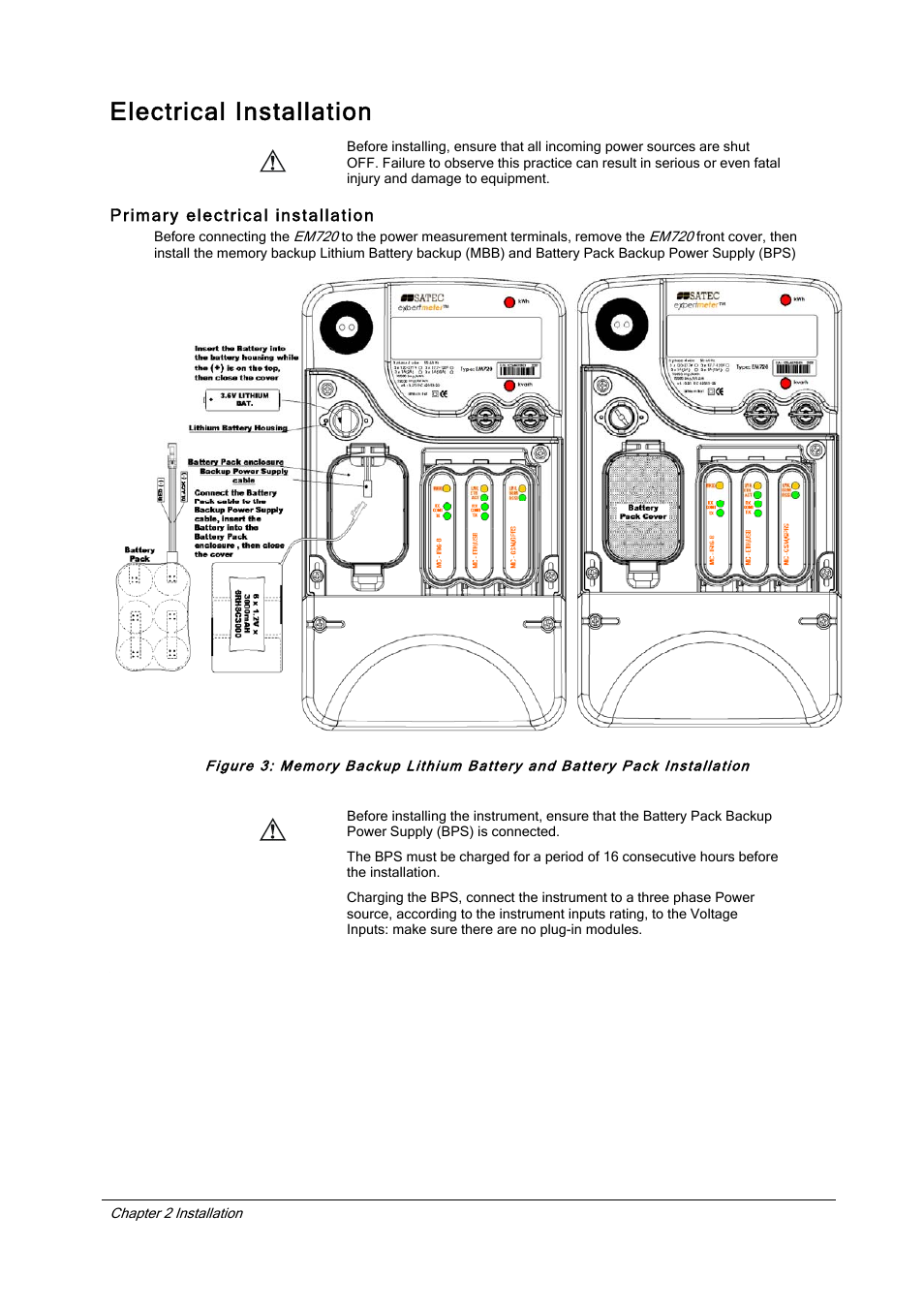 Electrical Installation Primary Satec Section Three Em720 Manual User Page 9 32