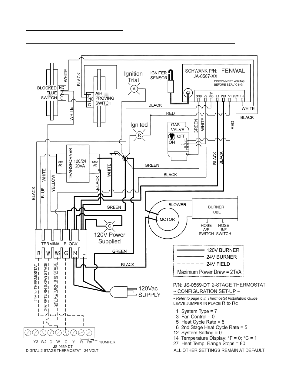 Schwank 2 Stage Series User Manual Page 31 59 24v Thermostat Wiring Diagram