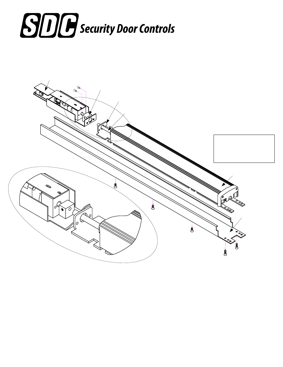 Sdc Lr100dmk Dor O Matic Electric Latch Retraction Device Kit 1490 Wiring Diagram User Manual 1 Page Also For
