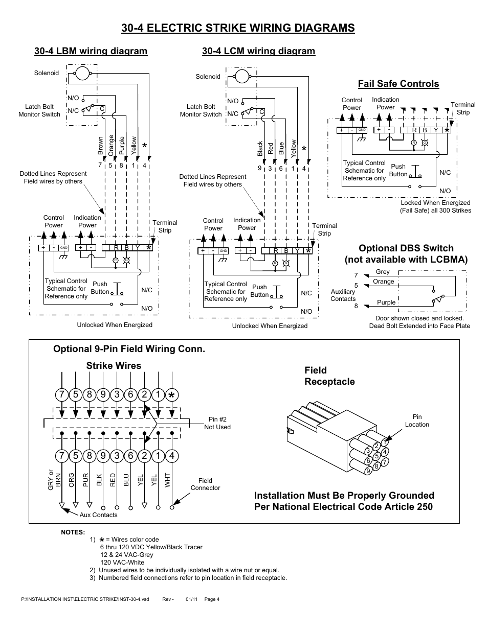 Adams Rite Electric Strike 74r2 121 Wiring Diagram Free Download Door Hes Strikes 9600 D 630 34 At