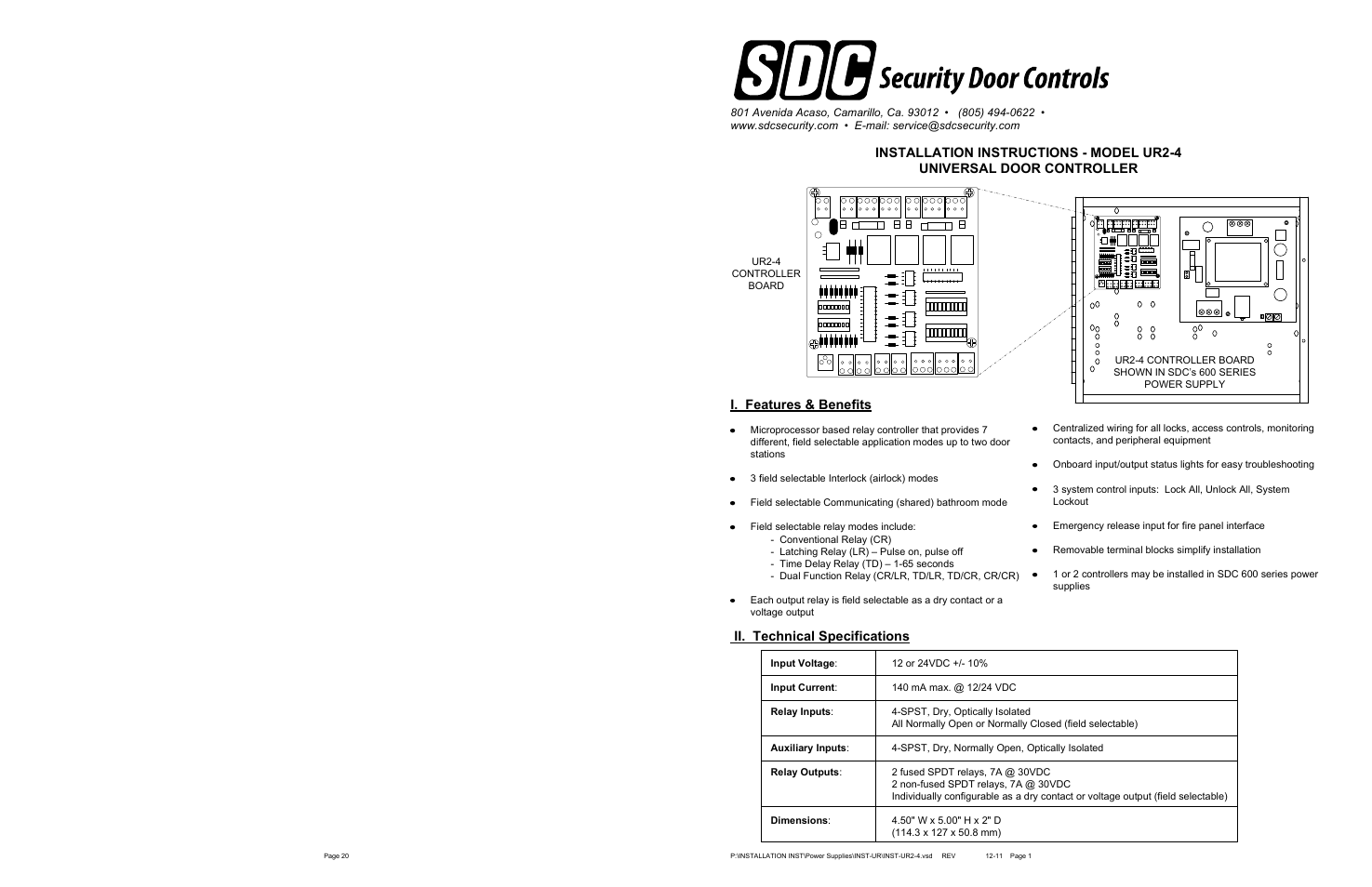 Sdc Ur2 4 User Manual 33 Pages Spst Relay Normally Closed