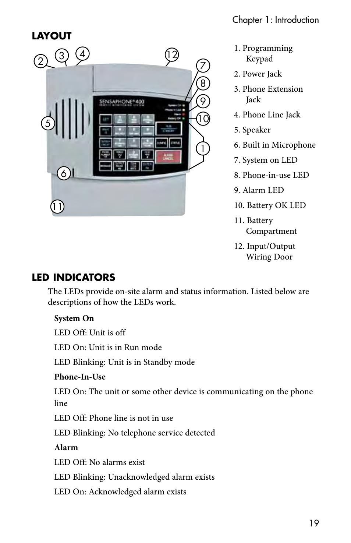 Sensaphone 400 User Manual Page 21 134 Wiring Phone Extension