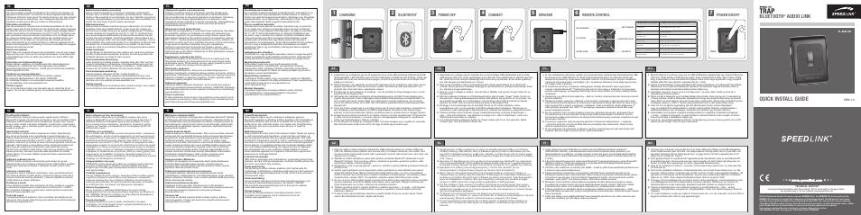 SPEEDLINK SL-8840-BK TRAP Bluetooth Audio Link User Manual