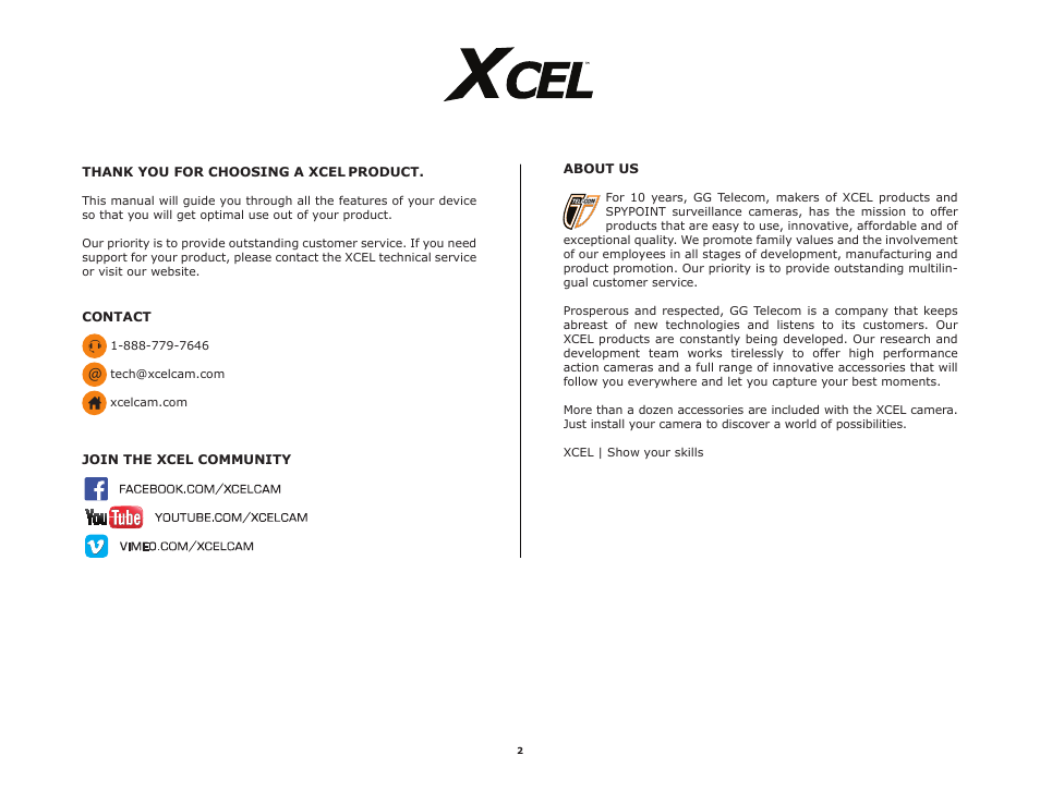 spypoint xcel hd2 user manual user manual page 2 26 also for rh manualsdir com