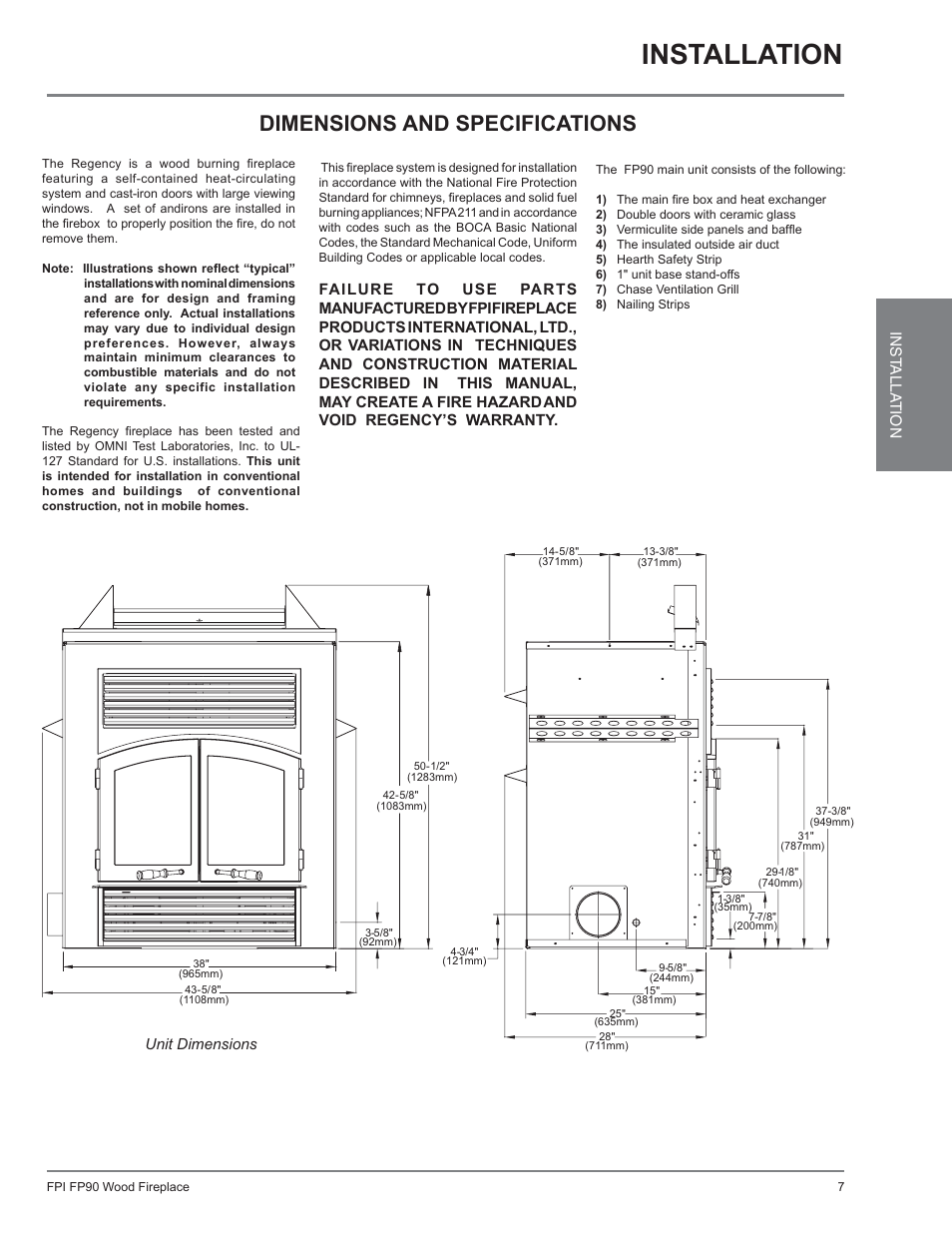 Excalibur Regency Fireplace Wiring Diagram Electrical Diagrams Electric Installation Dimensions And Specifications Ex90 Schematic
