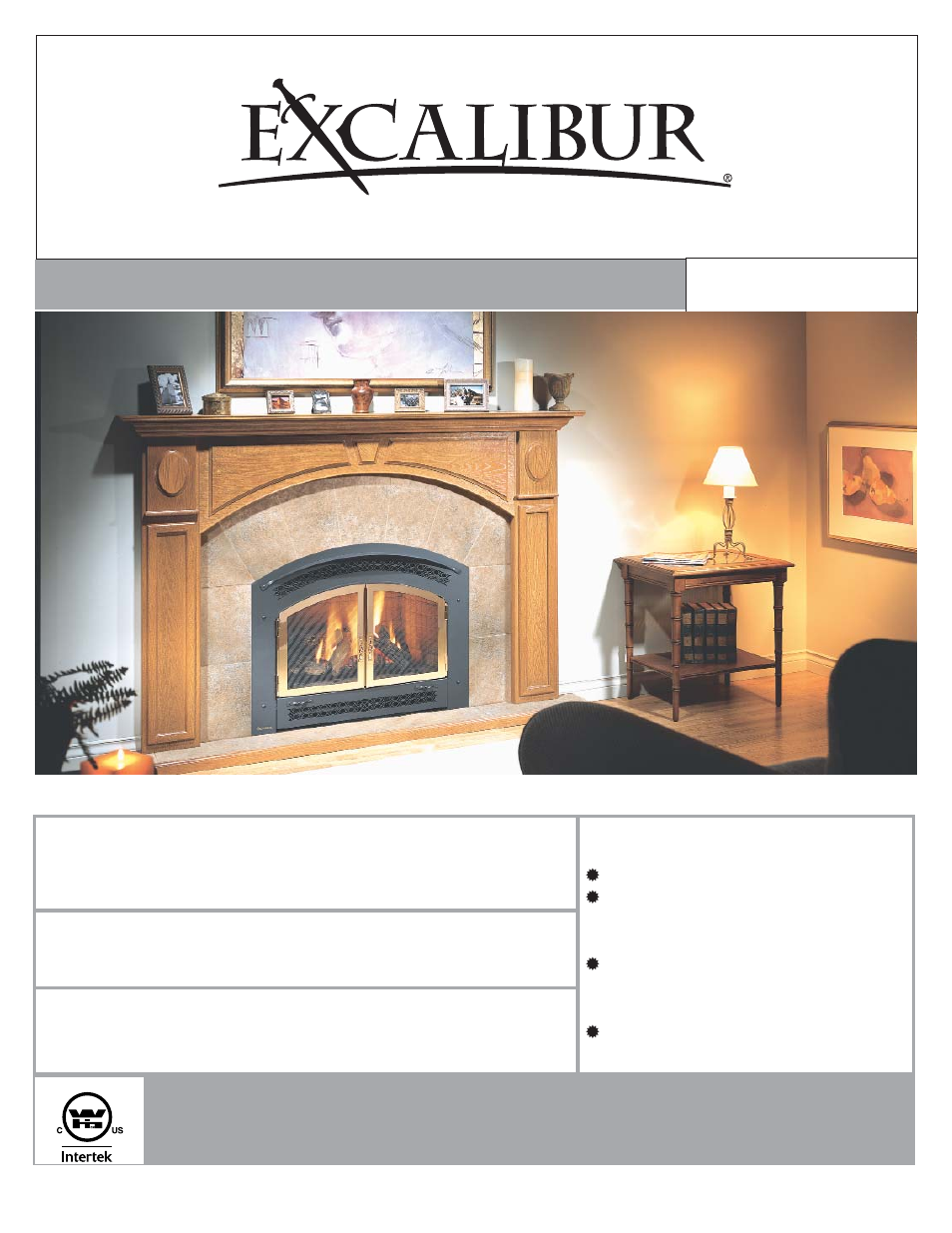 Regency Excalibur P90 Medium Gas Fireplace User Manual | 56 pages