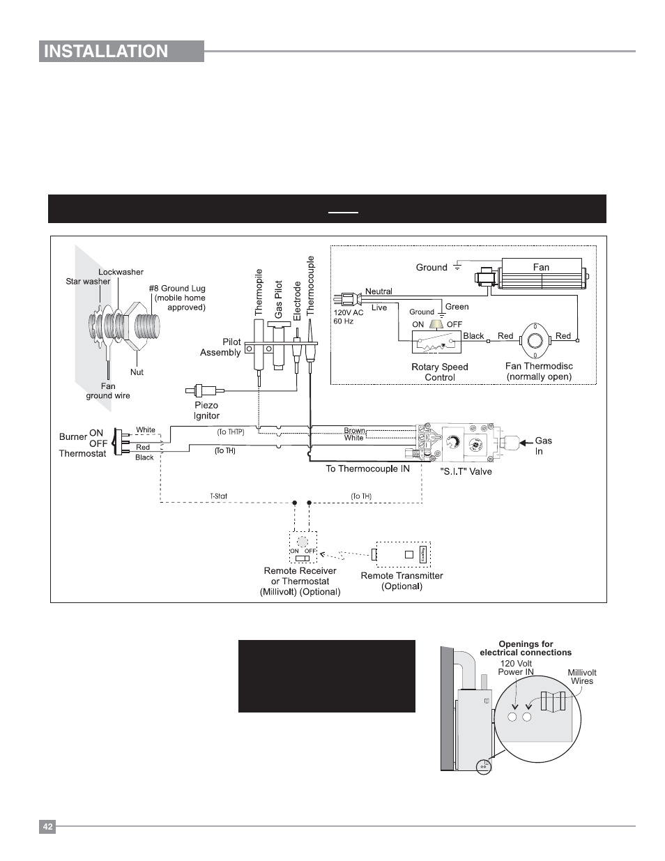 Installation  Wiring Diagrams  Natural Gas