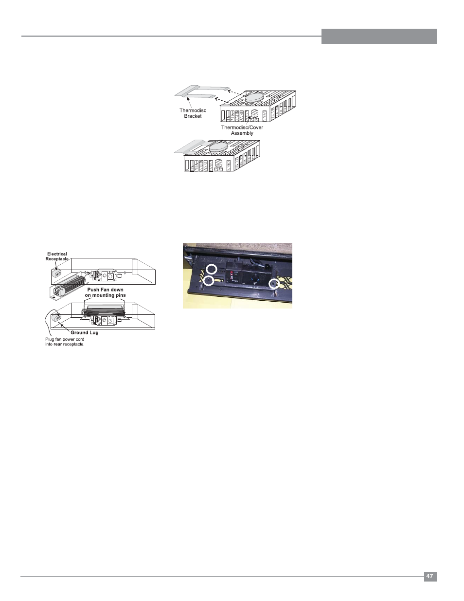 Maintenance Fan Regency Excalibur P90 Medium Gas Wire Diagram Fireplace User Manual Page 47