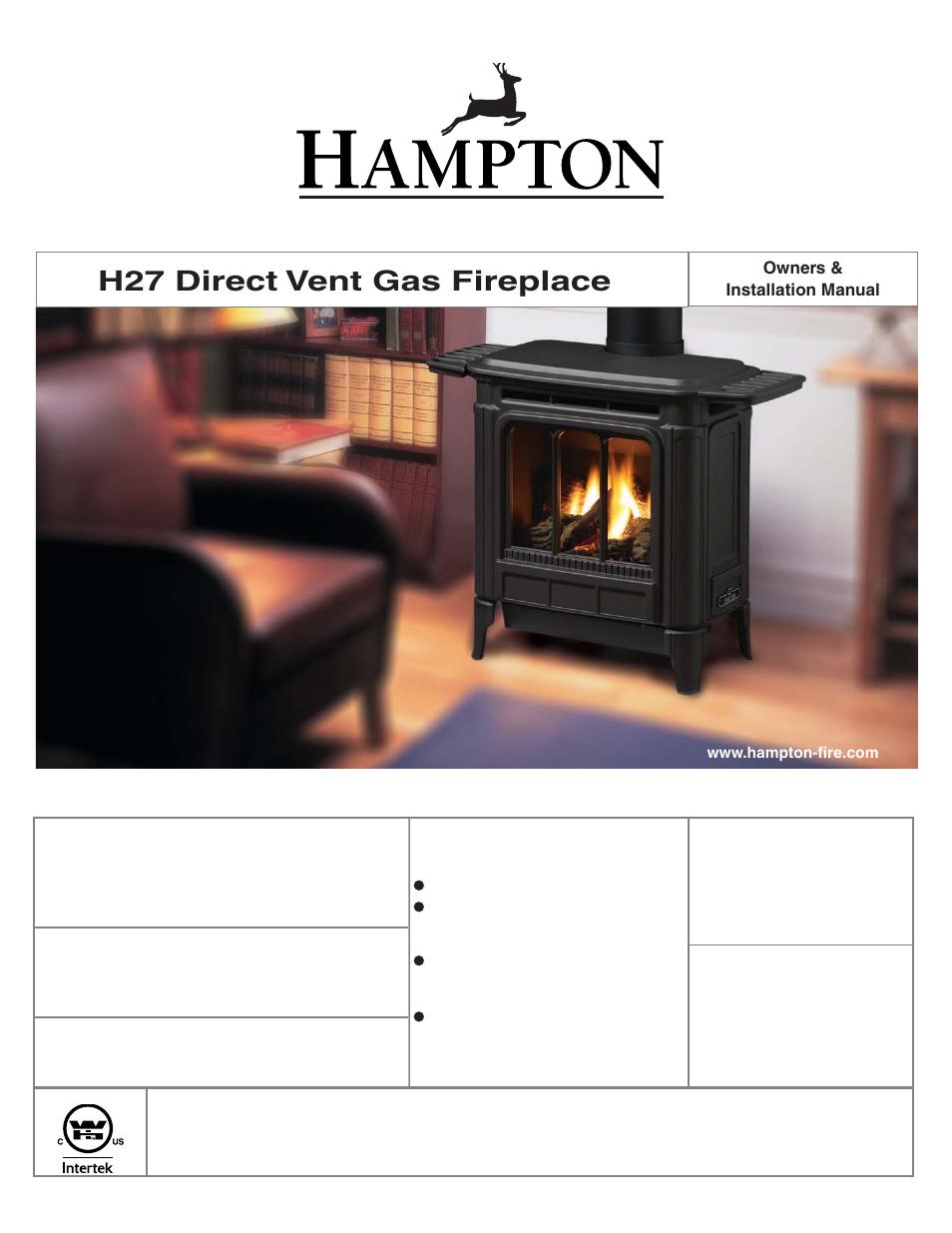 Regency Hampton H27 Medium Gas Stove User Manual 48 Pages