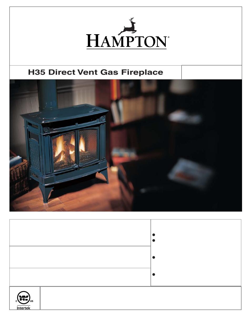 Regency Hampton H35 Large Gas Stove User Manual 48 Pages