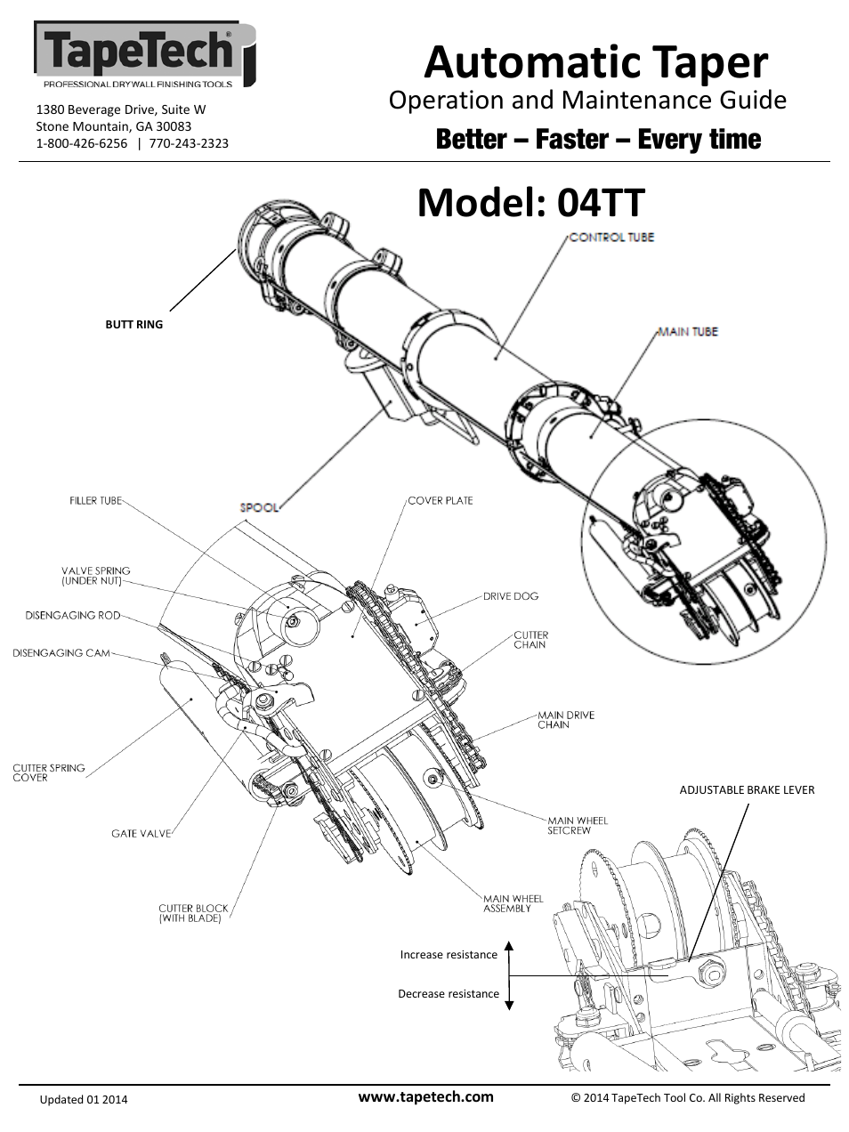 tapetech tt easyclean automatic taper user manual   pages, schematic