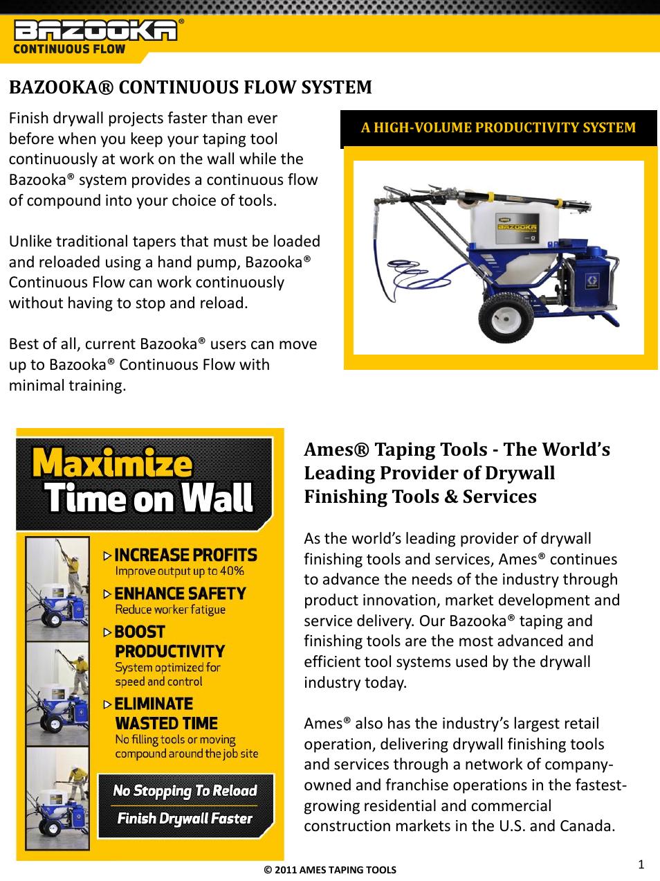 Bazooka® continuous flow system | TapeTech T05CF Bazooka Continuous
