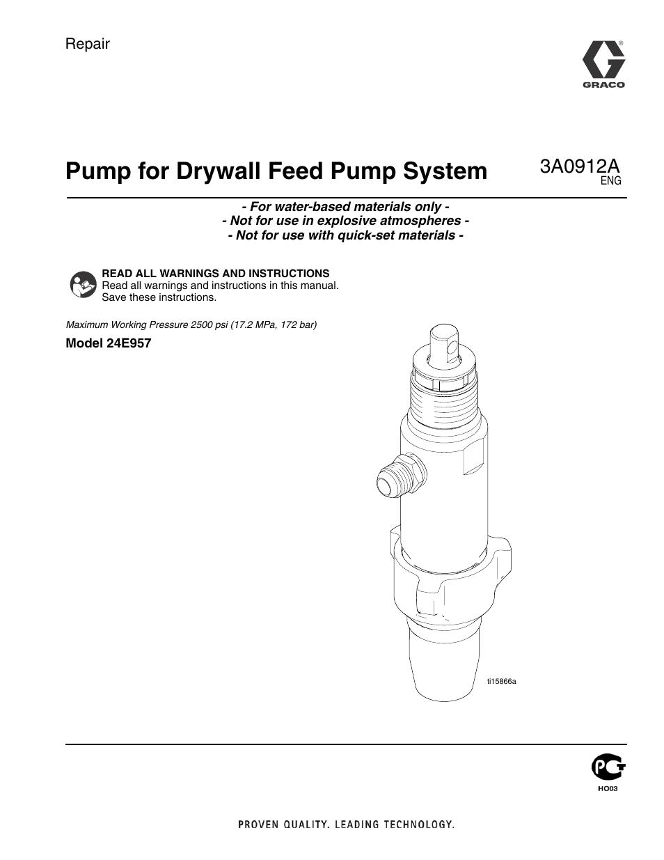 tapetech ctpmp bazooka continuous flow pump repair page1 tapetech ctpmp bazooka continuous flow pump repair user manual 12