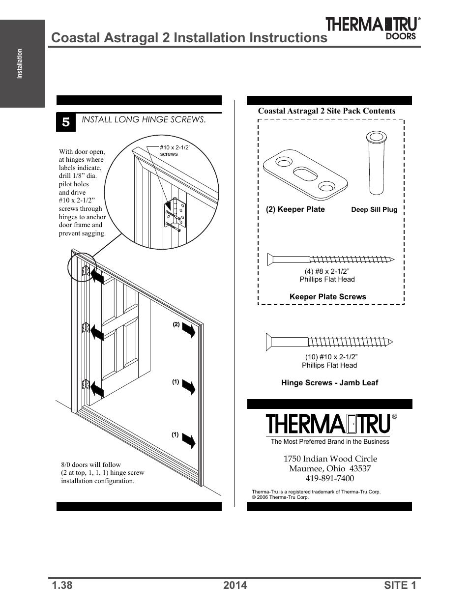 Astragal door installation installing a pre hung - Interior door installation instructions ...