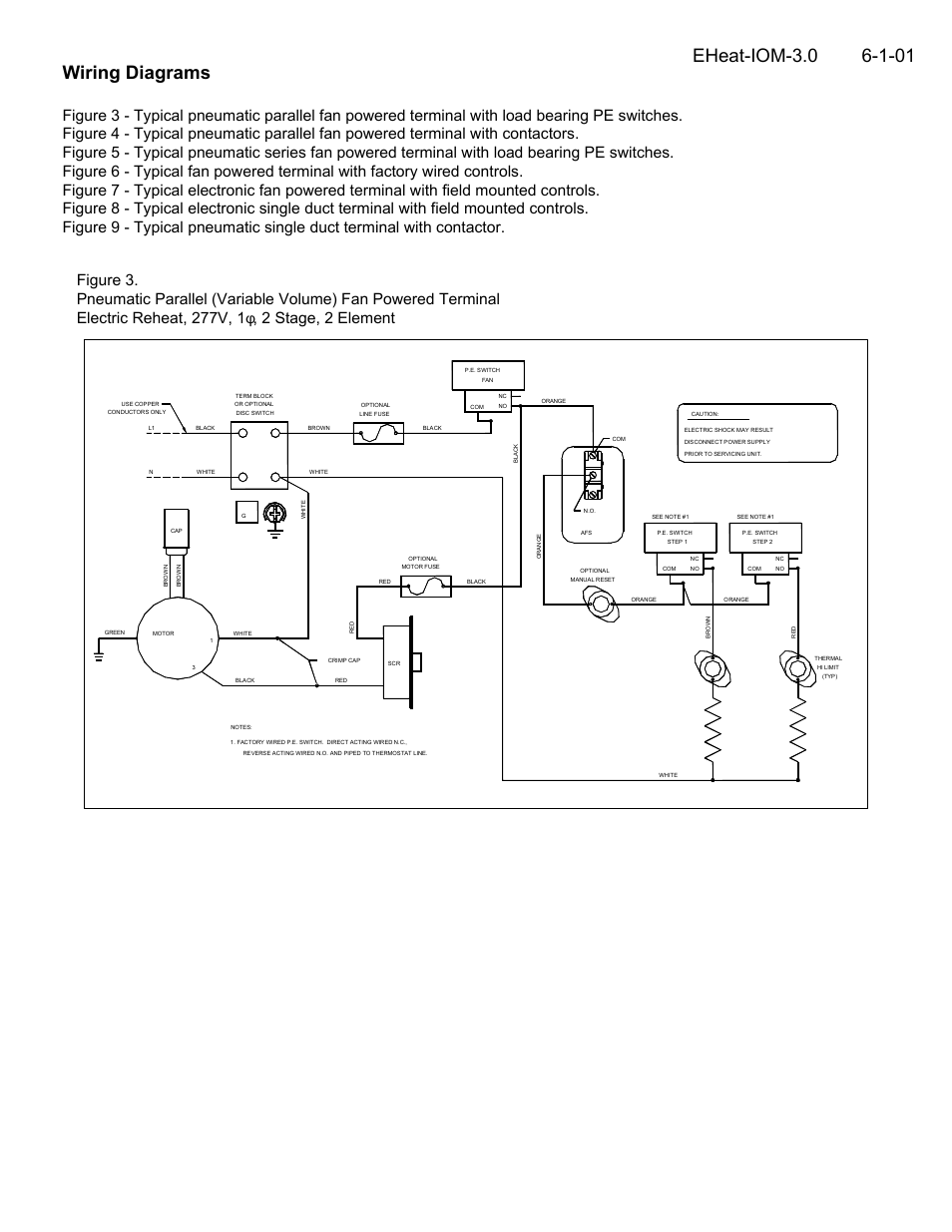 [SCHEMATICS_4LK]  Wiring diagrams | Titus Electric Heat IOM User Manual | Page 3 / 10 | Titus Wiring Diagram |  | Manuals Directory