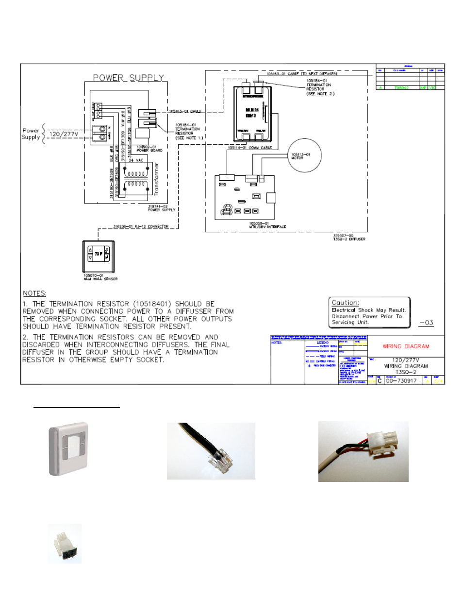 titus t3sq 2 iom user manual page 7   8 power supply wire colors