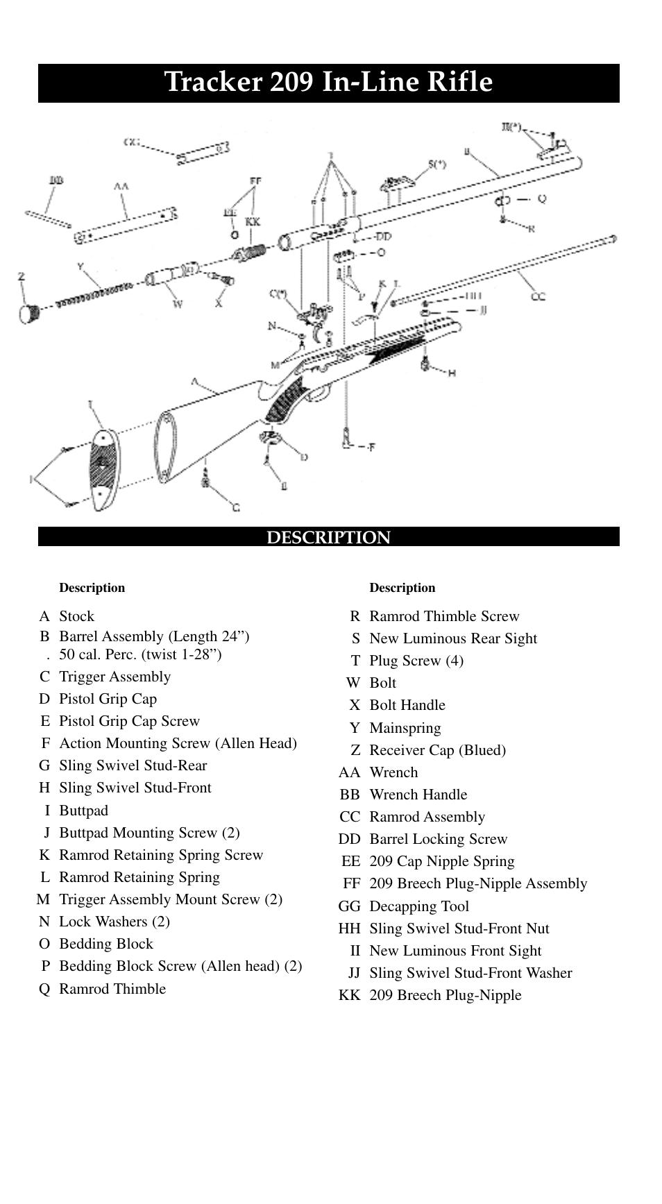 tracker 209 in line rifle traditions evolution thunderbolt tracker rh manualsdir com trimble thunderbolt user manual apple thunderbolt display user manual